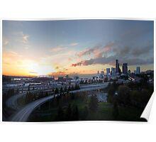 Seattle sunset Poster