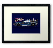 Delorean Tardis Framed Print