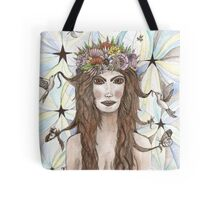she walked bare footed under the moon & stars  Tote Bag