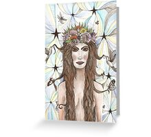 she walked bare footed under the moon & stars  Greeting Card