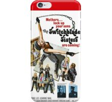 Switchblade Sisters Alt 2 (Red) iPhone Case/Skin