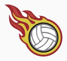 Volleyball On Fire Kids Clothes