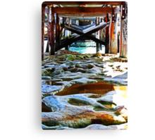 Rocks Underneath The Walkbridge At Laperouse Canvas Print