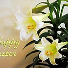 Easter Lilies Greeting by MarjorieB