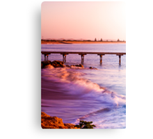 Crashing waves as the sun rises at Beachport Canvas Print