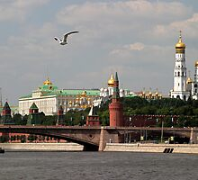 Moscow Kremlin View from Moskva River by Olga Zvereva