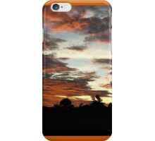 Tropical Twilight - Orange Belly Blanketed Cloudscape  iPhone Case/Skin