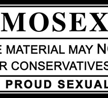 homosexual warning label by chromatosis