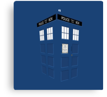 Tardis Blue Canvas Print