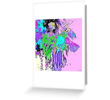 Spring Floral Abstract Greeting Card