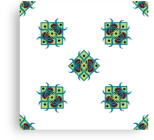 seamless pattern with square ornament on the white background Canvas Print
