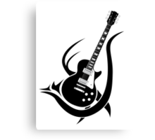 Tribal Guitar Canvas Print