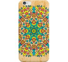 background with lace ornaments. A hand-painted ornament on a coffee background iPhone Case/Skin