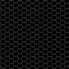 POSTER;16x20 HEXES Whitelines on BLACK. White numbers by Radwulf