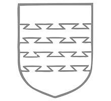 A Complete Guide to Heraldry - Figure 118 — Bars dovetailed Photographic Print