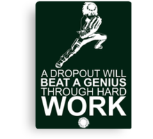 Rock Lee - A Dropout Will Beat A Genius Through Hard Work - White Canvas Print