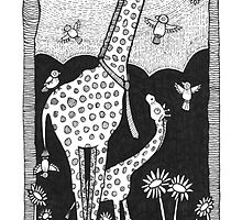 Jolly Giraffes by Anita Inverarity