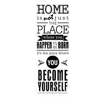 Where You Become You - White Photographic Print