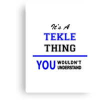 It's a TEKLE thing, you wouldn't understand !! Canvas Print