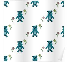 seamless pattern with children's teddy bears, illustration for children Poster