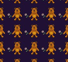 seamless pattern with children's teddy bears, illustration for children by Ann-Julia