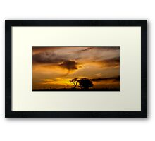 Two's company Three's a cloud Framed Print