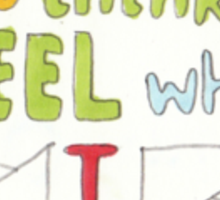 I am free to think & feel what I like Sticker