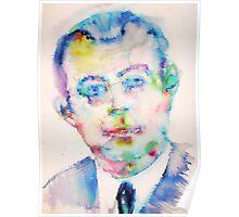 ANTOINE de SAINT-EXUPERY - watercolor portrait Poster