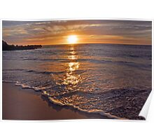 Trigg Beach Sunset  Poster