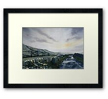 """""""A Drizzly Day in the Dales"""" Framed Print"""