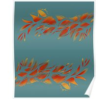 Fiery Foliage, Blazing Color Poster