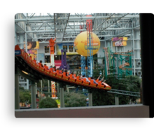 Mall of American ~ Nickelodeon Universe rollercoaster Canvas Print