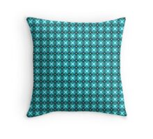 Blue Shapes Throw Pillow