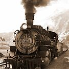 Silverton Durango Train B&W by Robert Yone