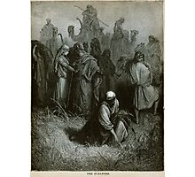The Gleaners engraving by Gustave Doré from the 1865 La Sainte Bible Photographic Print