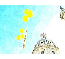 Rome: Dome with ballons Photographic Print