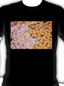Floral Overflow - Happy Pink and Orange Autumn Mums T-Shirt