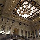 Classic Architecture, Waiting Room, Historic Hoboken Terminal, Hoboken, New Jersey by lenspiro