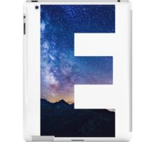 The Letter E - night sky iPad Case/Skin