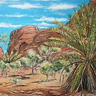 Garden of Eden, Kings Canyon, Australia - landscape by  Linda Callaghan