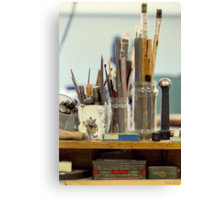 Tools of the Artist Canvas Print