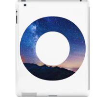The Letter O - night sky iPad Case/Skin