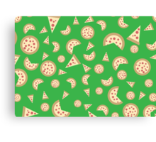 Pizza party! Canvas Print