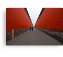 The long red road Canvas Print