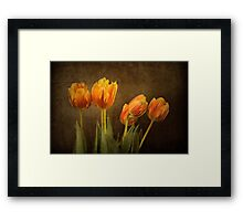 Tulips Together Framed Print