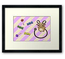 Dedenne's Candy Time! Framed Print