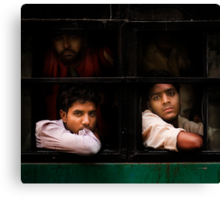 Indian Bus Trip (Dehli, India) Canvas Print