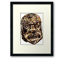 Olmec Head Framed Print