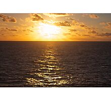 Sunset over the South Pacific Photographic Print