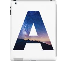 The Letter A - night sky iPad Case/Skin